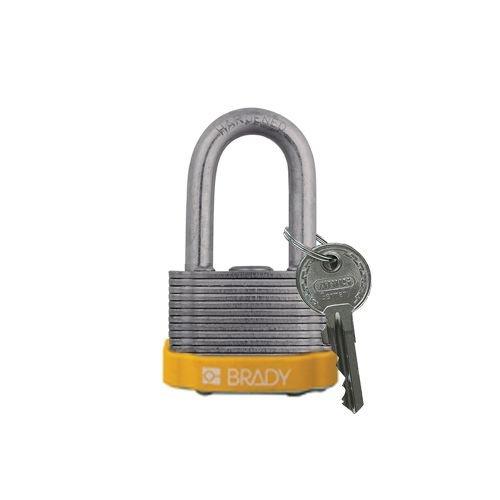 Sicherheits-vorhängeschloss Stahl gelb 814098