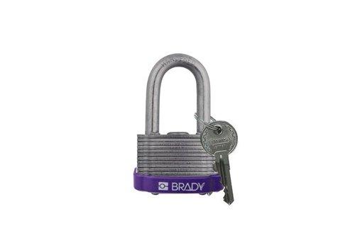 Sicherheits-vorhängeschloss Stahl lila 814102