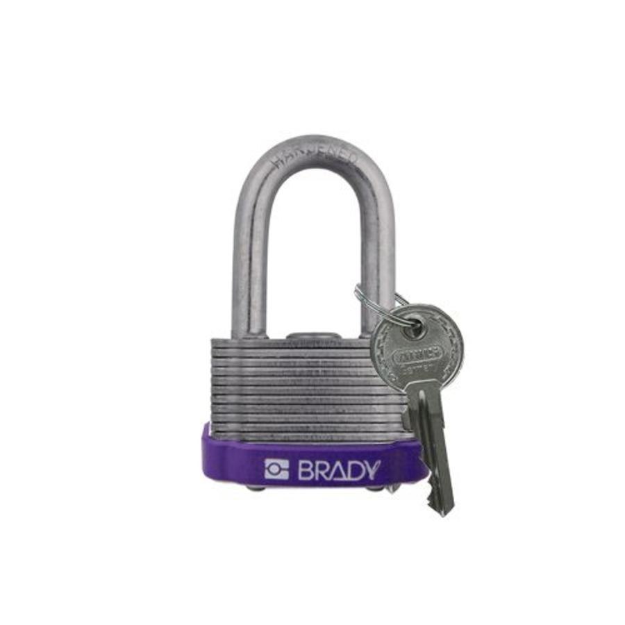 Laminated steel safety padlock purple 814102