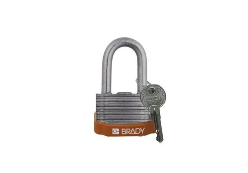 Laminated steel safety padlock brown 814101