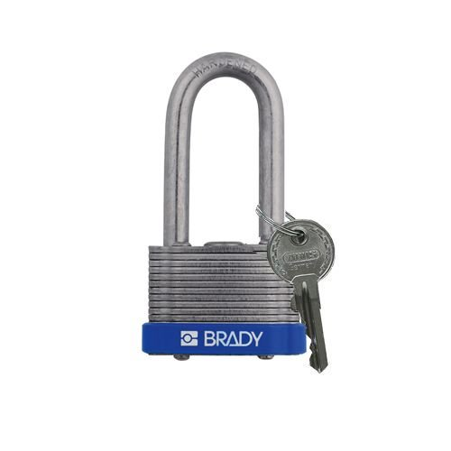 Laminated steel safety padlock blue 814104