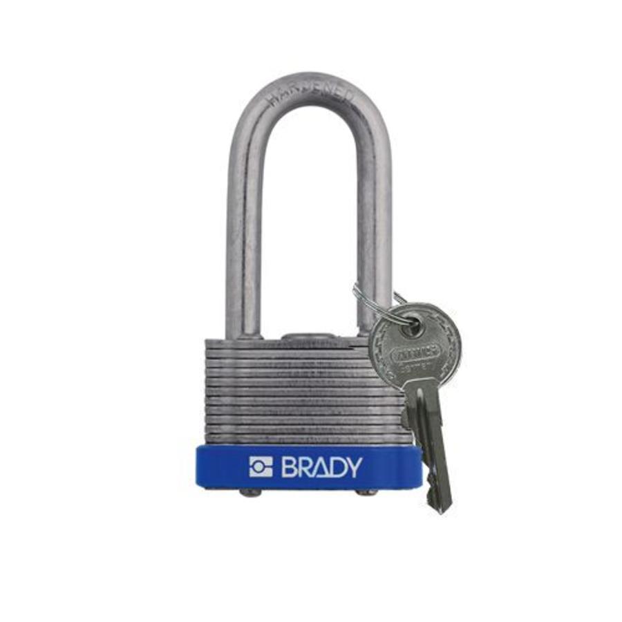 Gelamineerd stalen veiligheidshangslot blauw 814104