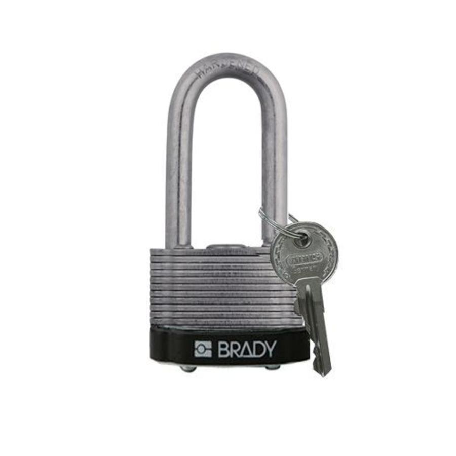 Laminated steel safety padlock black 814105