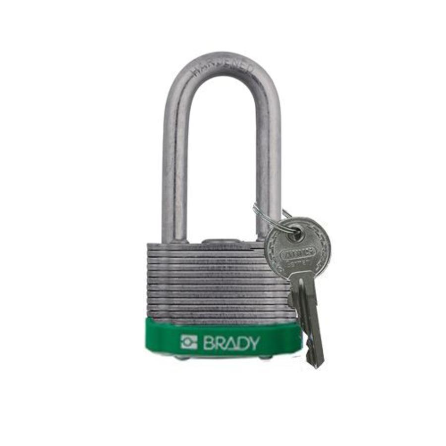 Gelamineerd stalen veiligheidshangslot groen 814108