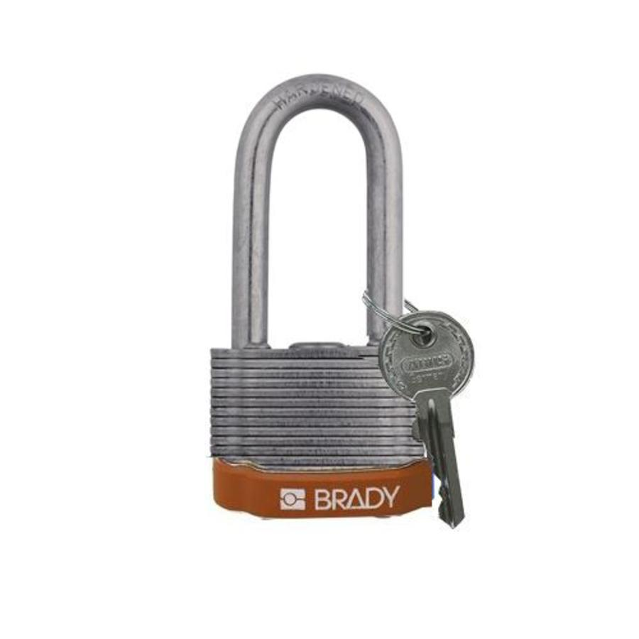 Laminated steel safety padlock brown 814110