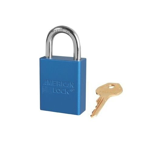 Anodized aluminium safety padlock blue S1105BLU