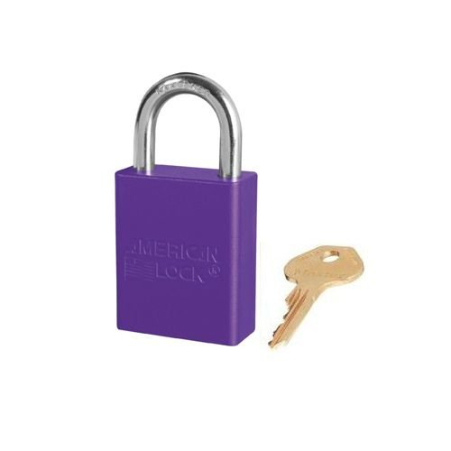 Anodized aluminium safety padlock purple S1105PRP