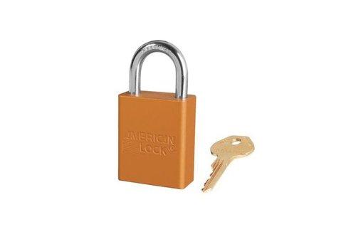 Geanodiseerd aluminium veiligheidshangslot oranje S1105ORJ