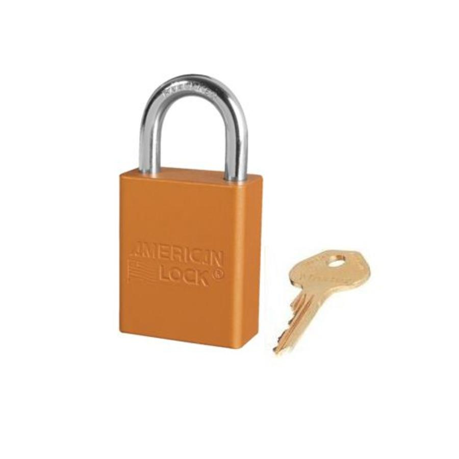 Anodized aluminium safety padlock orange S1105ORJ