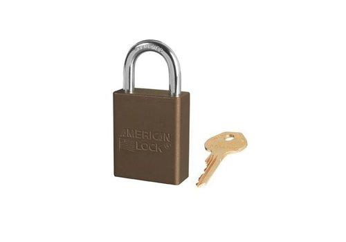 Anodized aluminium safety padlock brown S1105BRN
