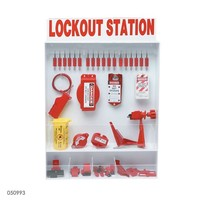Adjustable lockout station