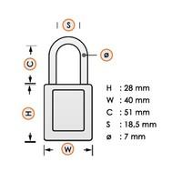 Laminated steel safety padlock orange 814109