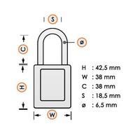 Nylon safety padlock purple 813640