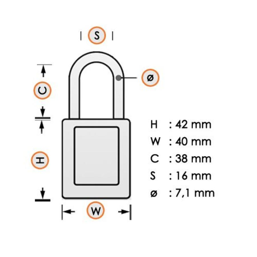 Laminated steel padlock white 3LFWHT