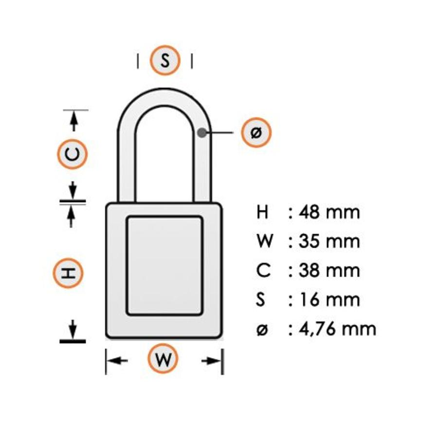 Zenex Sicherheits-vorhängeschloss schwarz S32BLK- S32KABLK