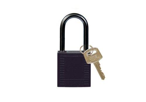 Nylon compact veiligheidshangslot zwart 814125