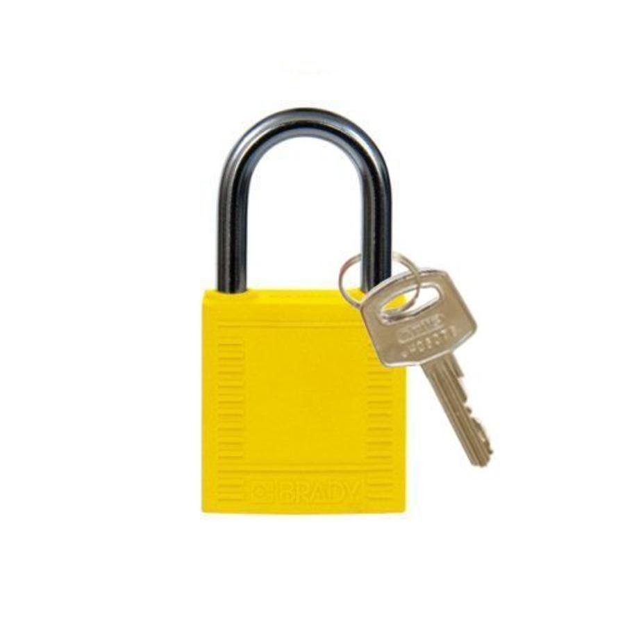 Nylon Kompakte Sicherheits-vorhängeschloss gelb 814117