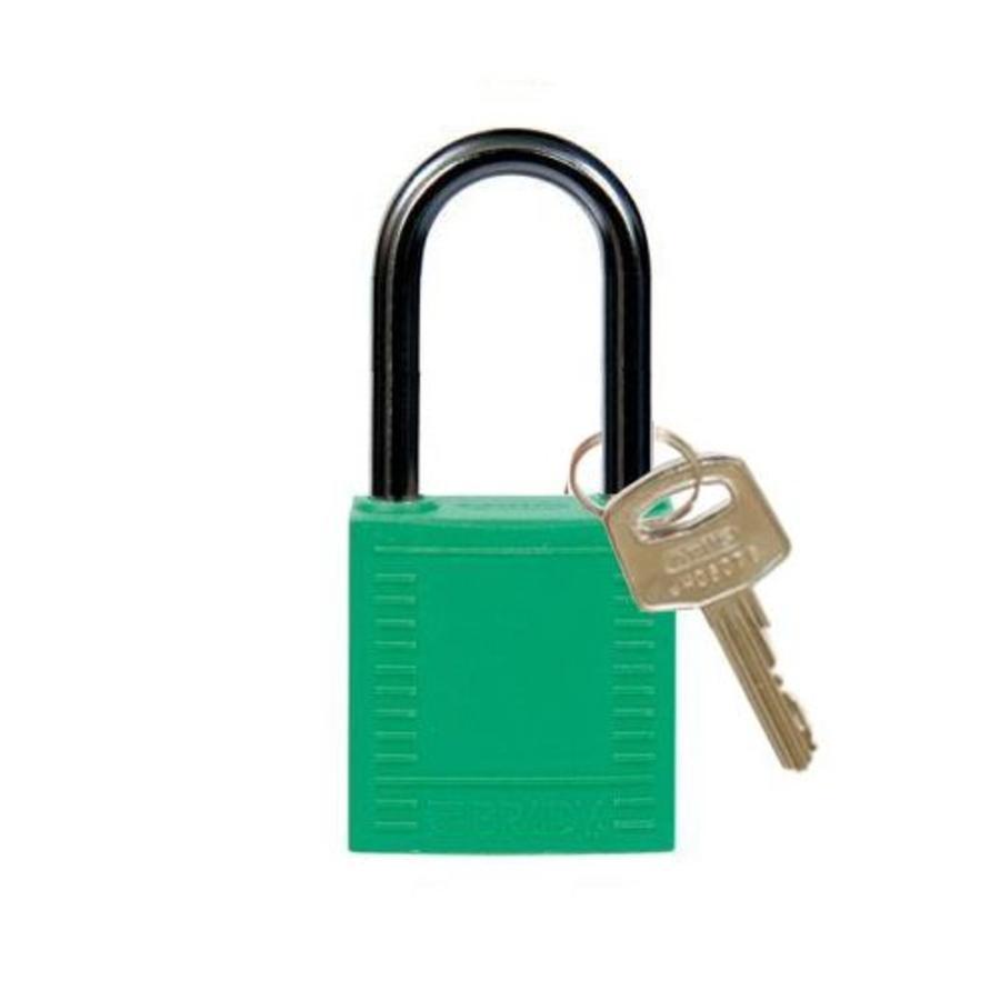 Nylon compact veiligheidshangslot groen 814128