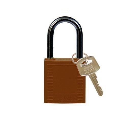 Nylon compact veiligheidshangslot bruin 814130