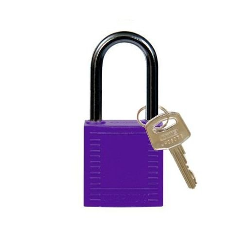 Nylon compact safety padlock purple 814131