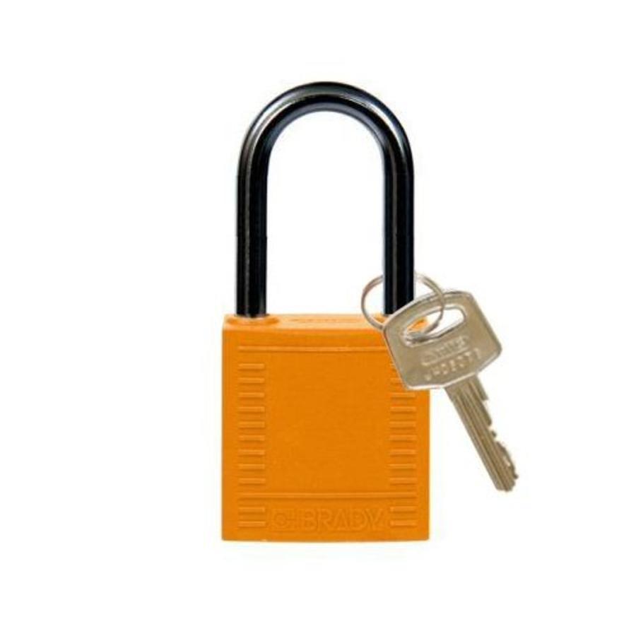 Nylon compact veiligheidshangslot oranje 814129