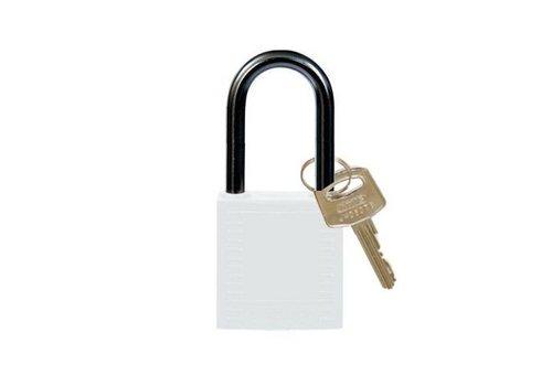 Nylon compact veiligheidshangslot wit 814132
