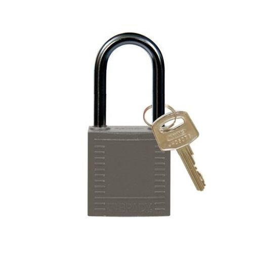 Nylon compact safety padlock grey 814133