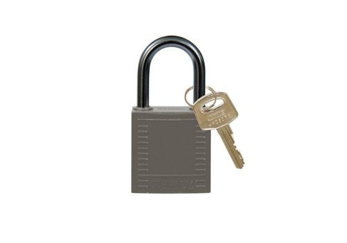 Nylon compact safety padlock grey 814123