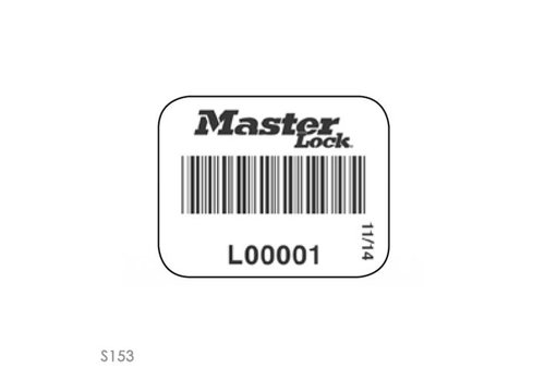 Padlock labels with barcode S150-S153