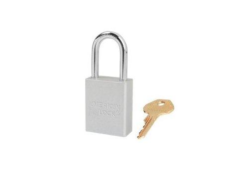 Geanodiseerd aluminium veiligheidshangslot wit S1106CLR