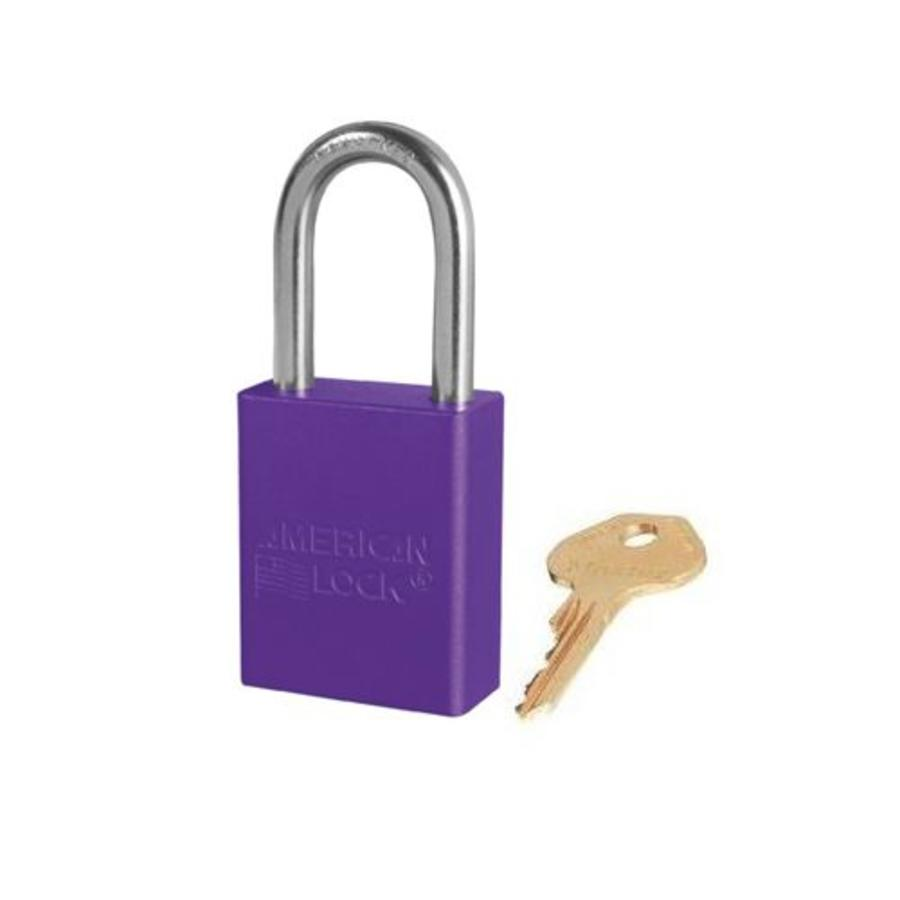 Anodized aluminium safety padlock purple S1106PRP