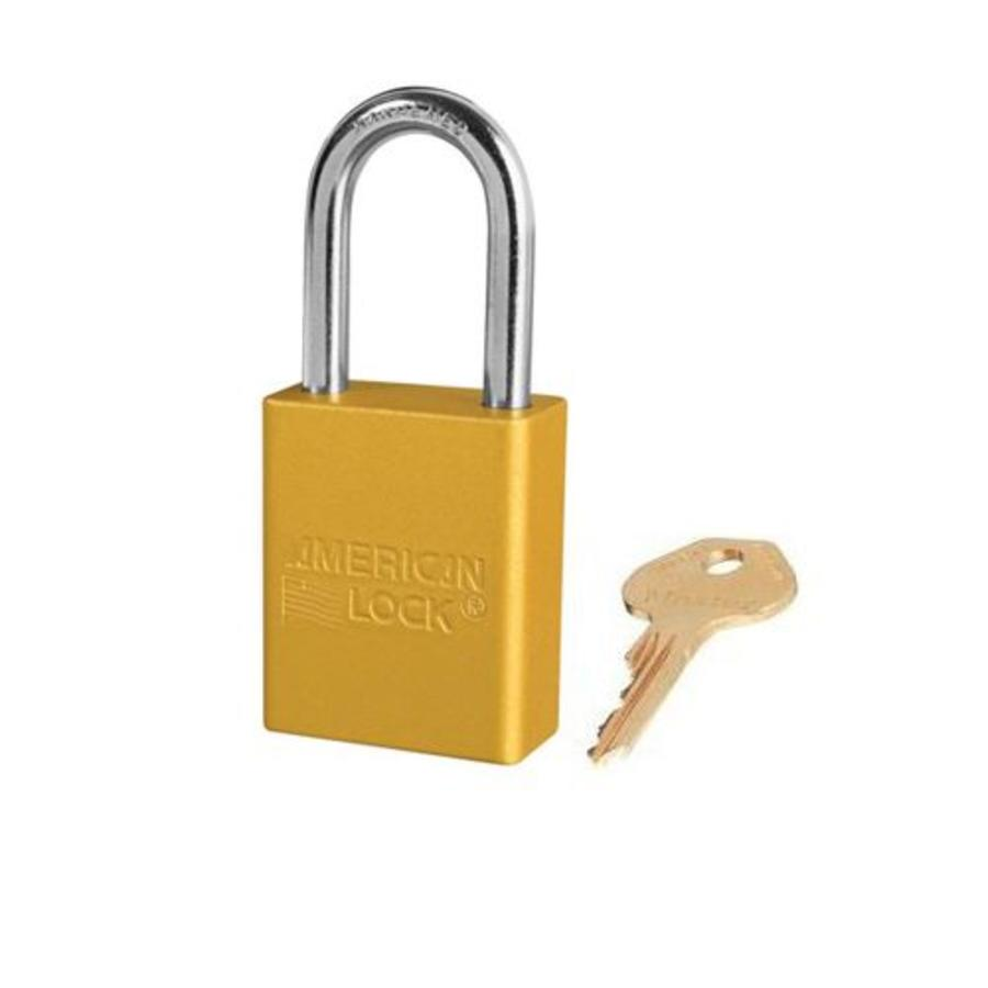 Anodized aluminium safety padlock yellow S1106YLW