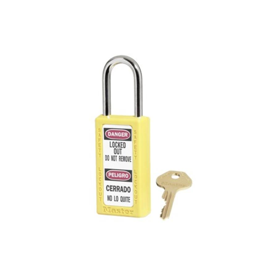 Zenex safety padlock yellow 411YLW - 411KAYLW