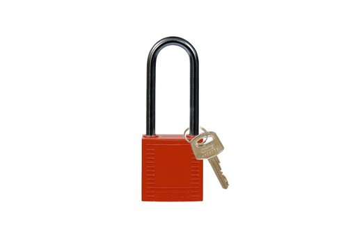 Nylon compact veiligheidshangslot rood 814136