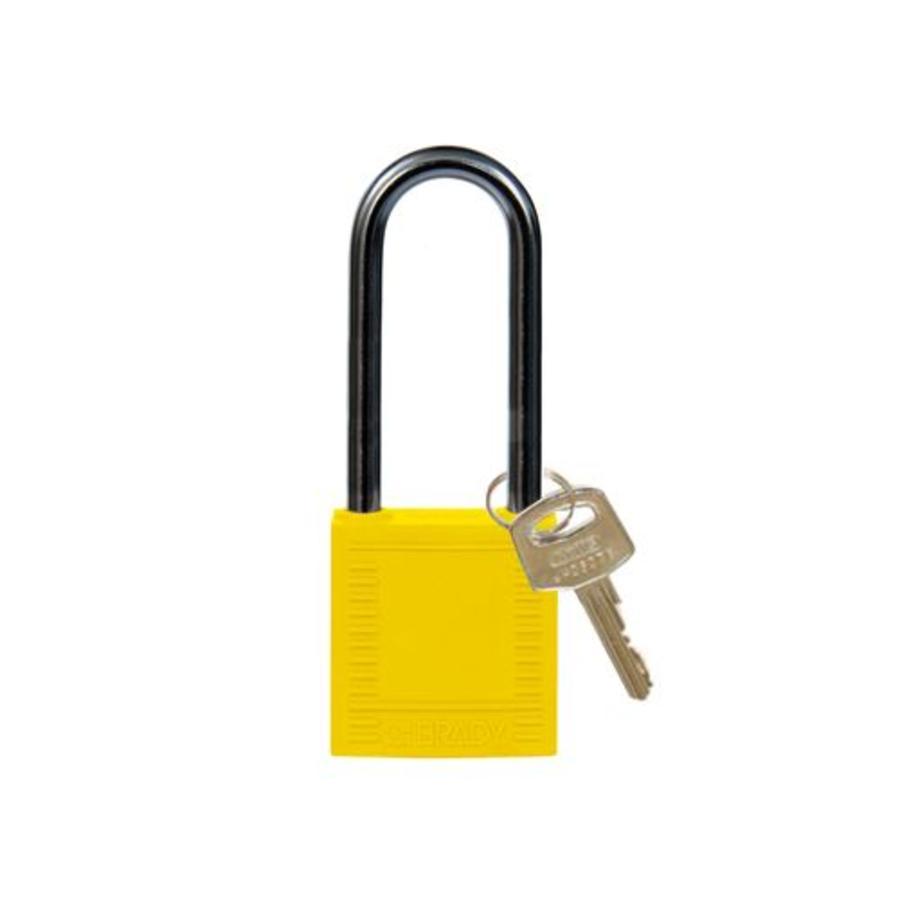 Nylon Kompakte Sicherheits-vorhängeschloss gelb 8141237