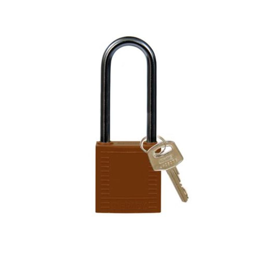 Nylon compact safety padlock braun 814140