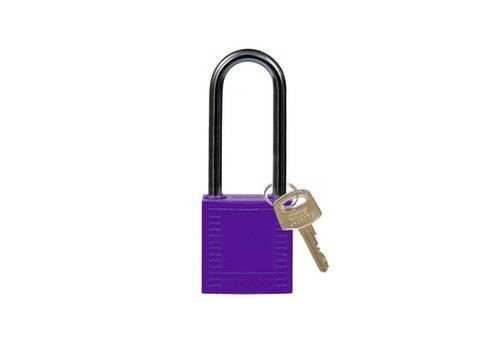 Nylon compact safety padlock purple 814141