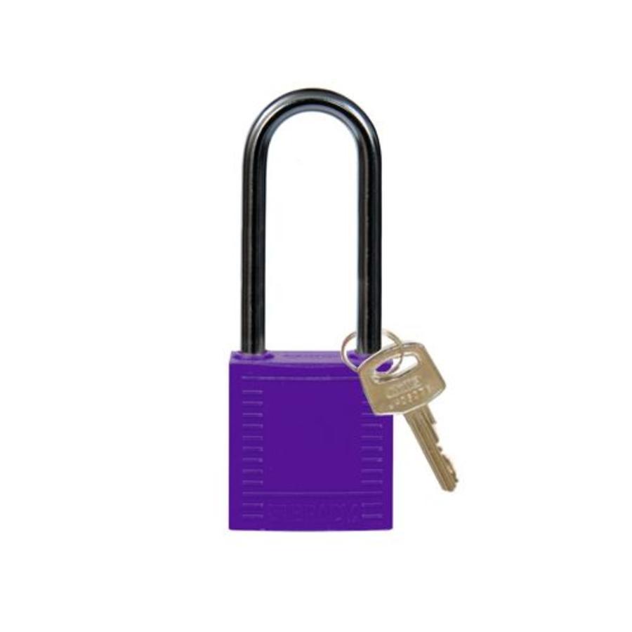 Nylon compact veiligheidshangslot paars 814141