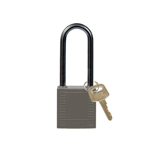 Nylon Kompakte Sicherheits-vorhängeschloss grau 814143