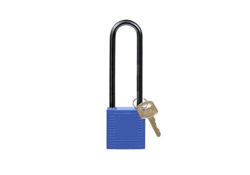 Nylon compact veiligheidshangslot blauw 814144