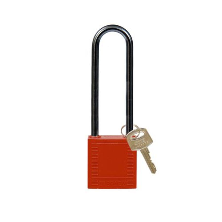Nylon compact veiligheidshangslot rood 814146