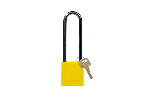 Nylon compact safety padlock yellow 814147