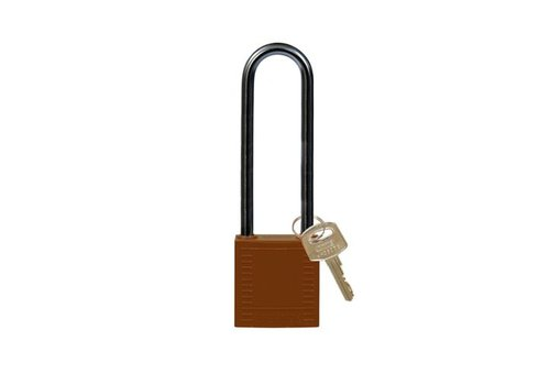 Nylon compact safety padlock brown 814150