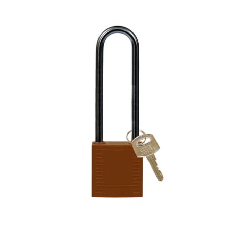 Nylon compact veiligheidshangslot bruin 814150