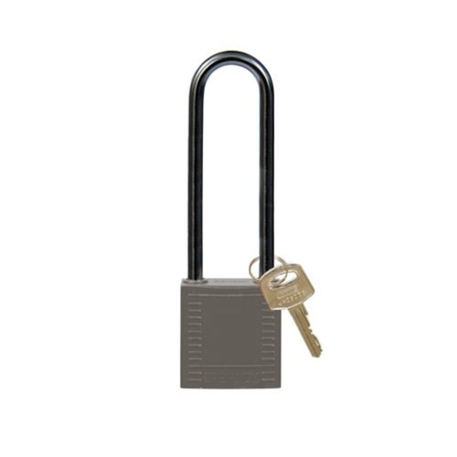 Nylon compact safety padlock gray 814153