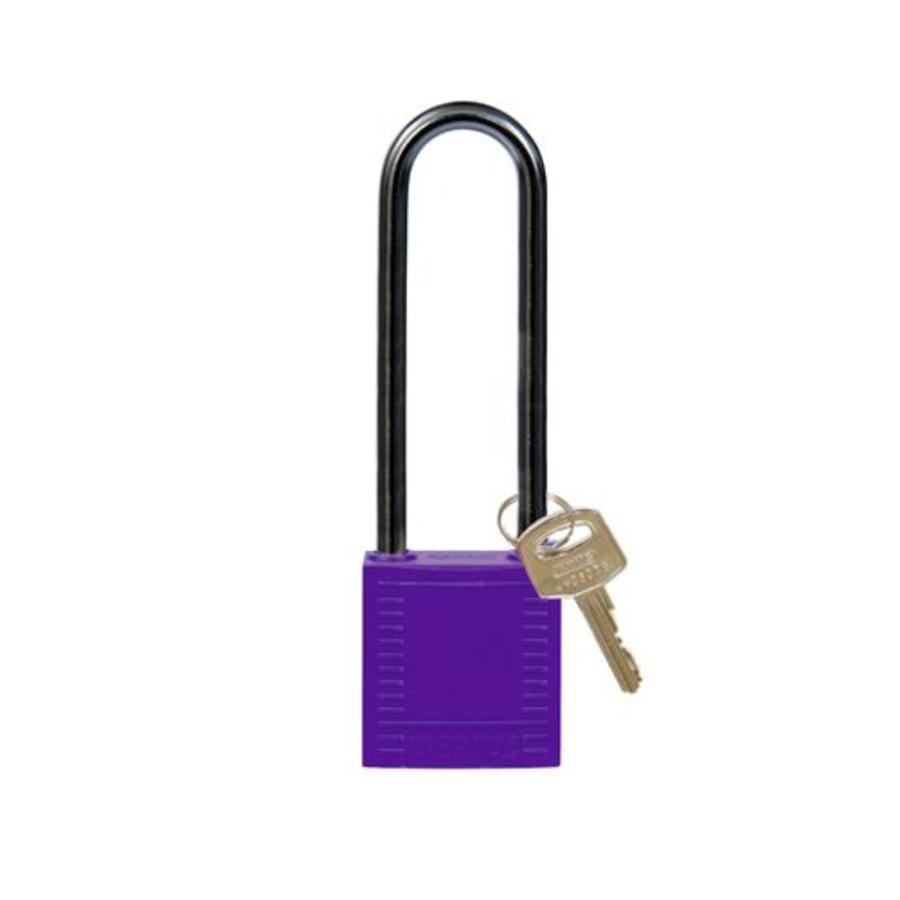 Nylon compact veiligheidshangslot paars 814151