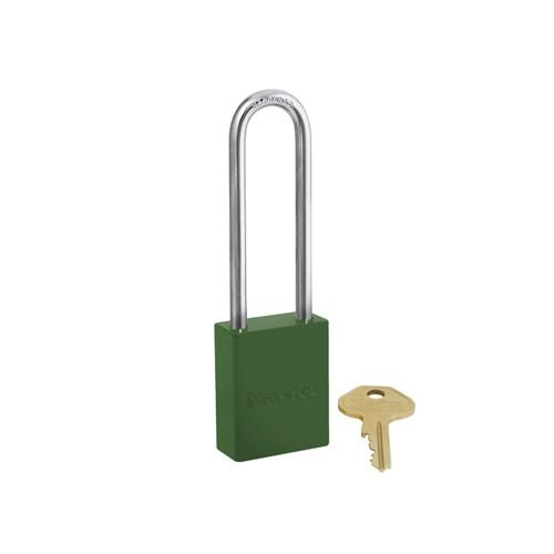 Aluminium safety padlock green S6835LTGRN