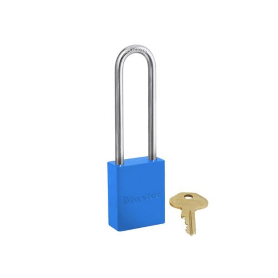 Aluminium veiligheidshangslot blauw S6835LTBLU