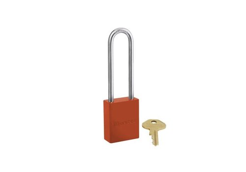 Aluminium safety padlock orange S6835LTORJ