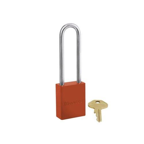 Aluminium veiligheidshangslot oranje S6835LTORJ